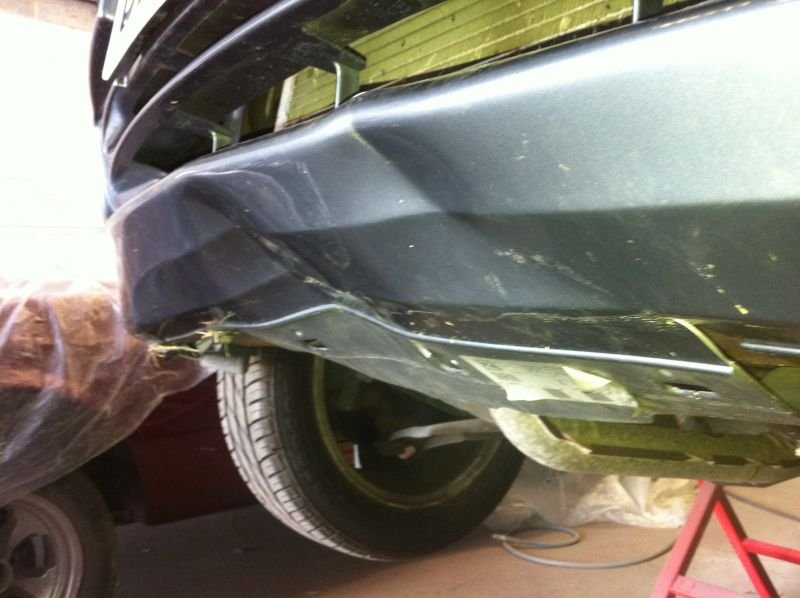 Bumper repair on a Nissan Micra